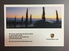 1997 Porsche Travel Club Postcard, Post Card, Collector Card RARE!! Awesome L@@K