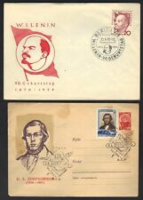 RUSSIA USSR 1960's COLLECTION OF 9 FDC's & SPECIAL CANCELLATION INCLUDING LENIN