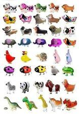 SET/LOT OF 100 WALKING ANIMAL BALLOON PETS AIR WALKER FOIL HELIUM BIRTHDAY PARTY