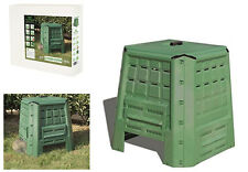 Compostiera contenitore bidone coperchio in polietilene lavabile 380 lt concime