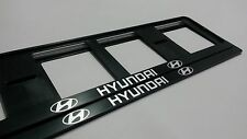 2X HYUNDAI EUROPEAN LICENSE NUMBER PLATE SURROUND FRAME HOLDER.
