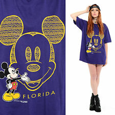 Vtg 80s 90s MICKEY MOUSE Tribal Hip-Hop Soft Thin Grunge Oversized T-Shirt Top