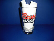 "Collectible ""Coors Light"" pint size glass with mountains"