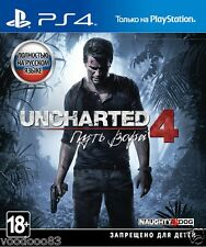 Uncharted 4: A Thief's End (PS4, 2016) Russian,English version