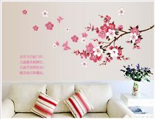 Big Butterfly Cherry Blossom Flower Tree Branch Wall Decals Decor Room Stickers