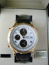 Vintage Seiko Watch, Age of Discovery,7T42-7A39!! Superb! box and papers!!!