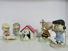 SNOOPY PEANUTS CHARLIE BROWN LENOX FINE CHINA 60TH ANNIVERSARY FIGURINE SET 2010