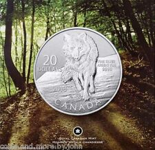 2013 Canada .9999 Silver $20 WOLF Coin in Sealed Pack as Issued by Mint - UNC