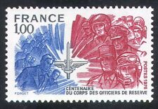 France 1976 Military/Army/Soldiers/Navy/Air Force/Reserve Officers 1v (n34761)