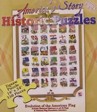 Jigsaw puzzle American History Historic Flags of America 550 piece NIB
