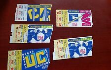 Vintage CALIFORNIA BEARS Football 1956 5 Home Game Tickets STANFORD PITT BAYLOR