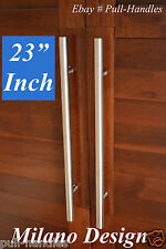 """23"""" Pull Push Long Modern Door Handle Entrance Entry Stainless Steel Glass"""