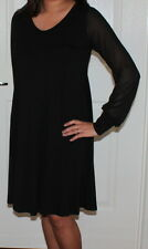ASOS black maternity dress long-sleeve size Au-UK 10 Eu 38 US 6 Used