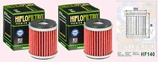2x HF140 Oil Filter for Yamaha YFM250 R Raptor    2008 to 2011