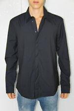 chemise rayée noire M+F GIRBAUD  tieland expressway T. M NEUF/ÉTIQUETTE val 230€