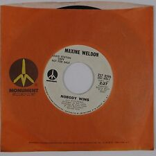 MAXINE WELDON: Pour Some Water on Me MONUMENT Soul Blues 45 NM '73 Hear!