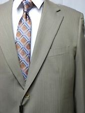 Men's Two Button Suit, 46R, Made in Italy, Tan, NWT