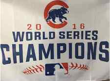New Chicago Cubs 2016 World Series Champions White MLB Flag 3x5 Deluxe W Banner