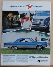 1967 magazine ad for Plymouth Belvedere Satellite, Contagious, but hard to catch