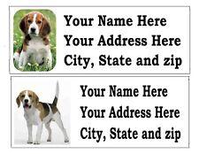 120 BEAGLE DOG PET RETURN ADDRESS LABELS