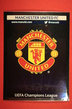PANINI CHAMPIONS LEAGUE 2013/14 N. 8 BADGE MANCHESTER UNITED BLACK BACK MINT!