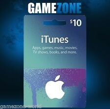 Tarjeta de regalo de iTunes $10 USD USA Apple iTunes código de vale 10 dólares Estados Unidos