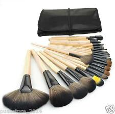 Cosmetic Makeup Brush Set - 24 Pieces with Black Leather Case