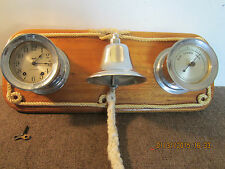 MARITIME, SHIP'S 3 PC WEATHER STATION & BELL