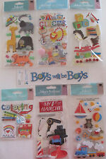 Scrapbooking Stickers Jolee's Boutique CHILDREN Circus Toys Animals Haircut Boys