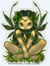 "Jasmine Becket-Griffith Eyed Fairy Green Allura 3.5""x4.75"" Die-Cut Decal STICKER"
