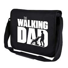 The Walking Dad | Fun | Vatertag | Schwarz | Kult Umhängetasche | Messenger Bag