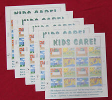 NEW 80 (5 Panes / Sheets x 16) EARTH DAY KIDS CARE! 32¢ Stamps Scott # 2951-2954