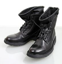New Authentic PRADA Leather/Fur Lace-Up Boots Shoes UK 6/US 7, 2TG034