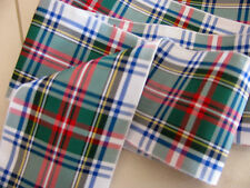 "Dress Stewart Multi-colored Tartan Plaid Ribbon Extra Wide 2 3/4""- By the Yard"