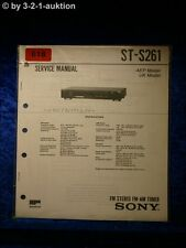 Sony Service Manual ST S261 Tuner  (#0618)