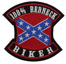 FOR 100% REDNECK BIKER embroidered PATCH (FLAG)