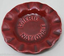 CENDRIER de BISTROT PUBLICITAIRE ASHTRAY ADVERTISING LOTERIE NATIONALE