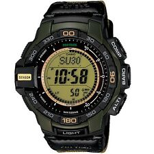 Casio Men's PRG270B-3CR Pro Trek Solar Powered Digital Quarts Watch Green New