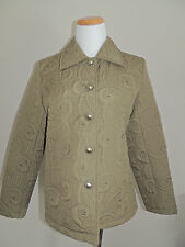 WOMENS MAGIC GREEN POLYESTER 5 BUTTON JACKET SIZE SML