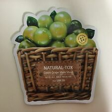 1 SHEET THE SAEM NATURAL-TOX GREEN GRAPE MASK SHEET VITALIZING & PURIFYING