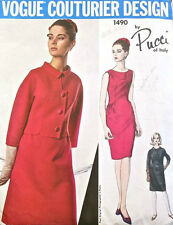 1965 Vintage VOGUE Sewing Pattern B36 JACKET & DRESS (1519R) By PUCCI of ITALY