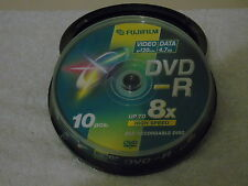 10 x Fujifilm SP120 min Video & Data 4.7GB  DVD - R Discs