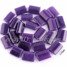 """11X14MM RECTANGLE PURPLE JADE GEMSTONE SPACER FOR JEWELRY MAKING BEADS STRAND15"""""""
