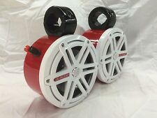 JL Audio RED/WH Mini Wakeboard Tower Boat Roll Cage Speakers UTV/ATV CAN AM RZR