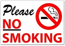 PLEASE NO SMOKING Sticker Sign Vinyl Decal, Modern, Words & Phrases