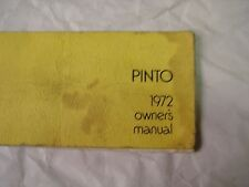 1972 Ford Pinto Original Owners Manual Free Shipping