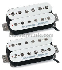 Seymour Duncan F-Spaced Hot Rodded Humbucker Set: SH-2n + TB-4 JB Bridge, White