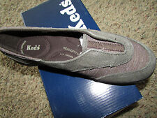 NEW KEDS BROWN LUSTER SHOES WOMENS 9 WH45045 SNEAKERS FREE SHIP SLIP ON LOAFER