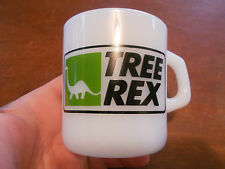 "Vintage Tree Rex Sinclair Co. Milk Glass Coffee Mug Cup "" Galaxy "" Oven Proof"