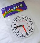 NEW TEACHING CLOCK FOR LEARNING TO TELL THE TIME MAGNETIC BACK 15cm PA-006 B&W